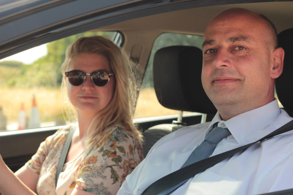 driving-pro instructor and pupil