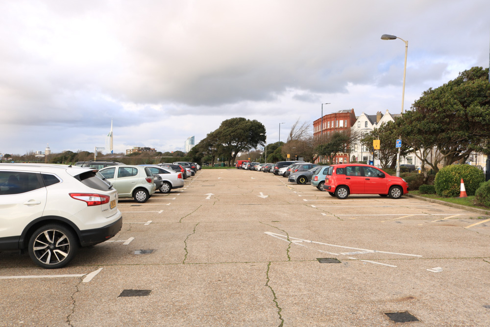 Southsea car park opp. Queens Hotel