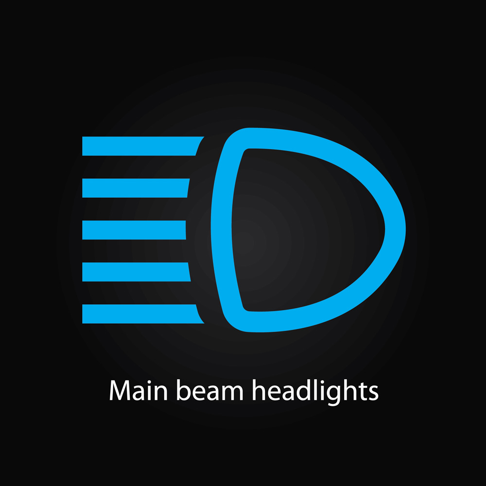 Dashboard light high beam