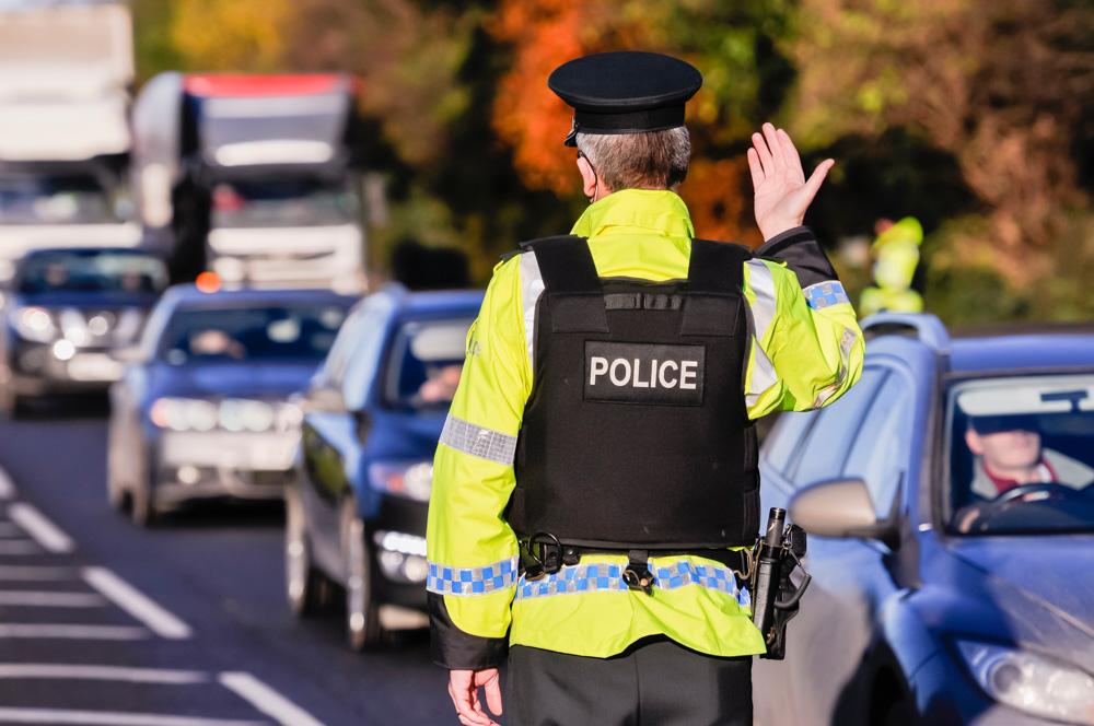 policeman signaling