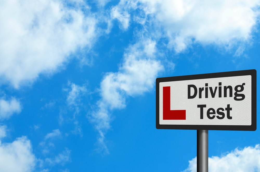 Driving test sign
